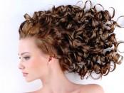 укладка кудрявых волос